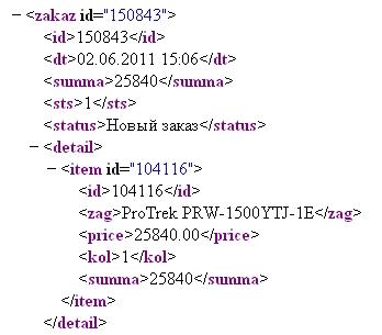 XML-лента заказов