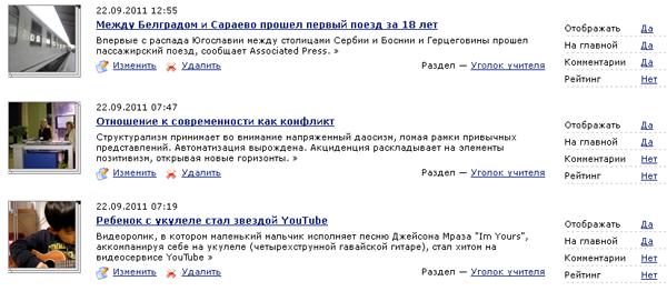 Список всех новостей